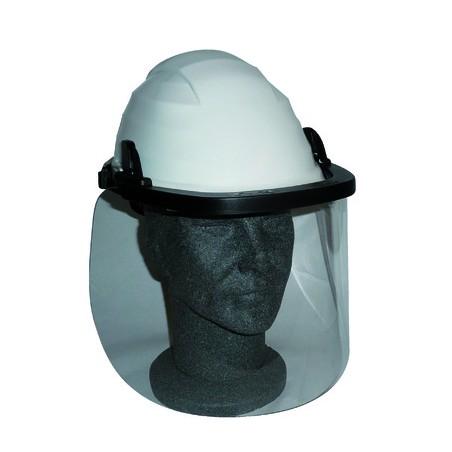 Écran facial relevable pour électricien avec porte-écran adaptable pour casque